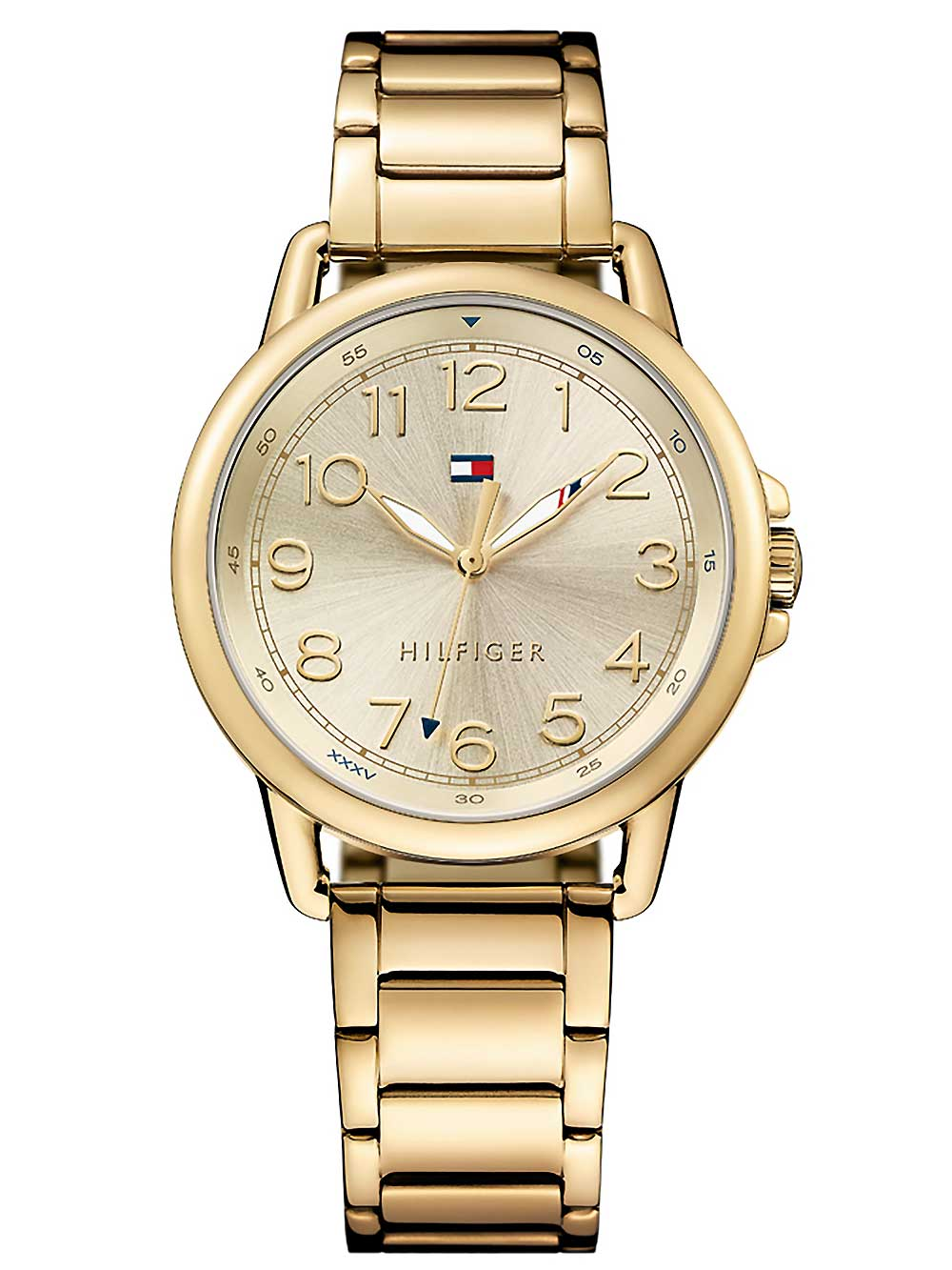 Image of Casual Sport Damenarmbanduhr TOMMY HILFIGER gold
