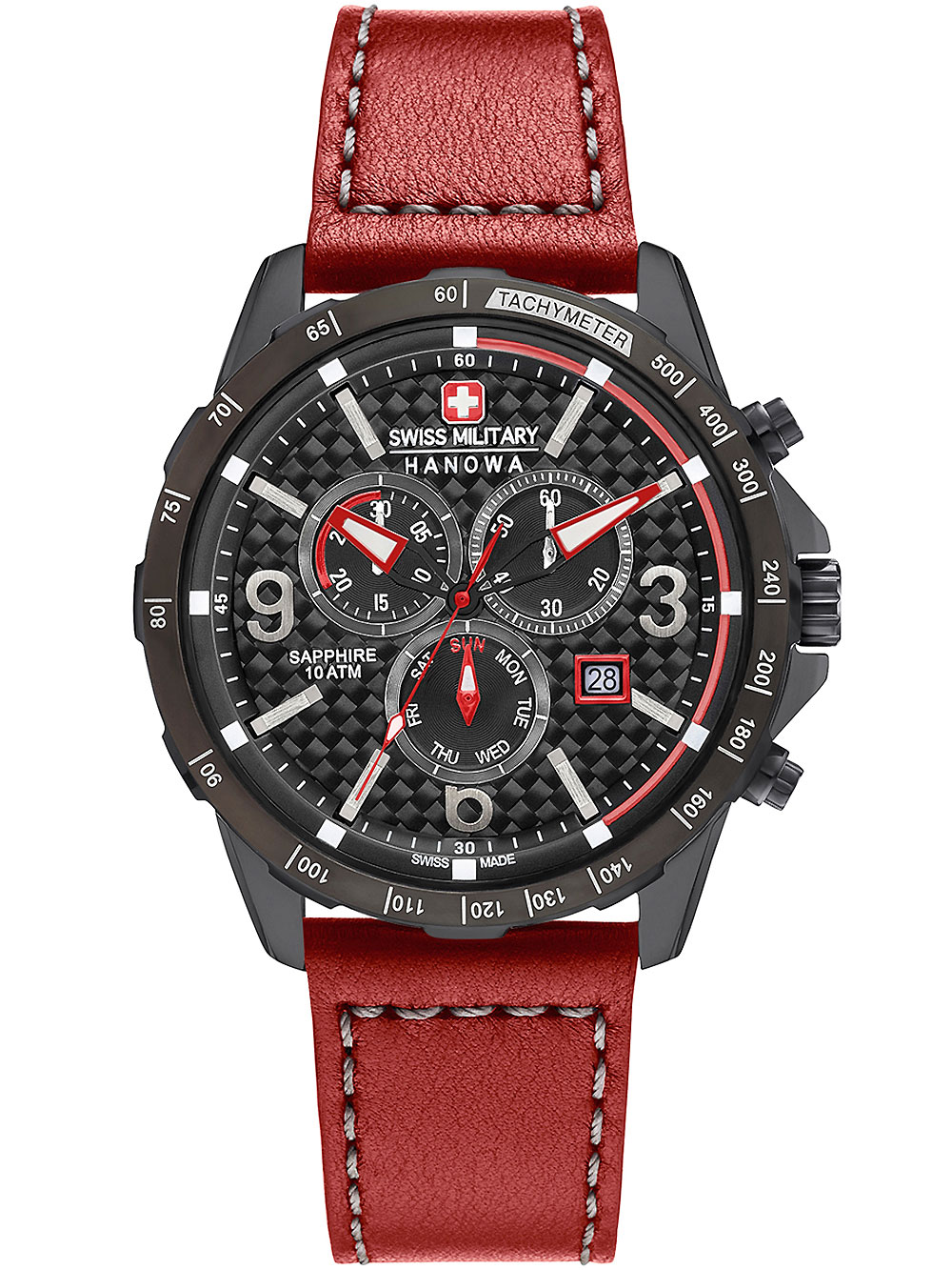 Image of Ace Herren-Chronograph Swiss Military Hanowa schwarz