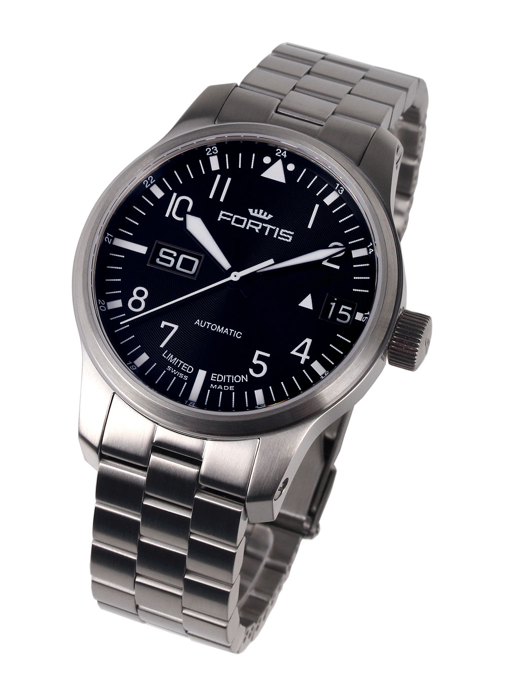 Image of Fortis 700.10.81 M F-43 Flieger Big Day-Date 43 mm 20ATM