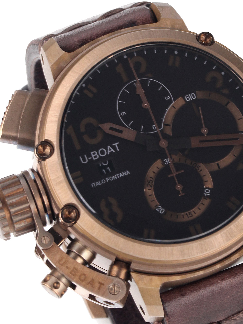 Image of U-Boat 7474 Chimera Chrono Bronze 46mm 10ATM Limited x/300