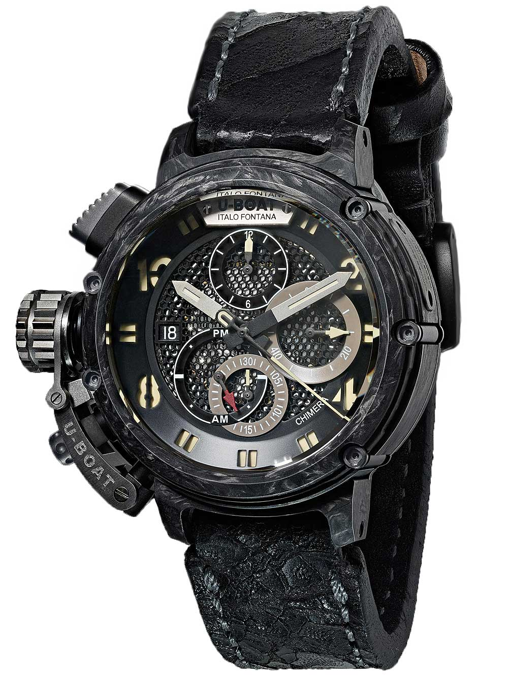 Image of U-Boat 8057 Chimera Carbon Autom. Chronograph 46mm 50M