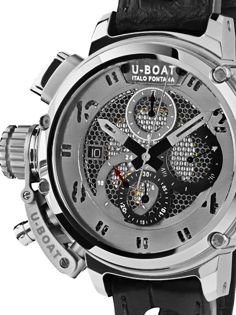 Image of U-Boat 8065 Chimera Skeleton Tungsten Sideview Autom. Chrono 46 mm