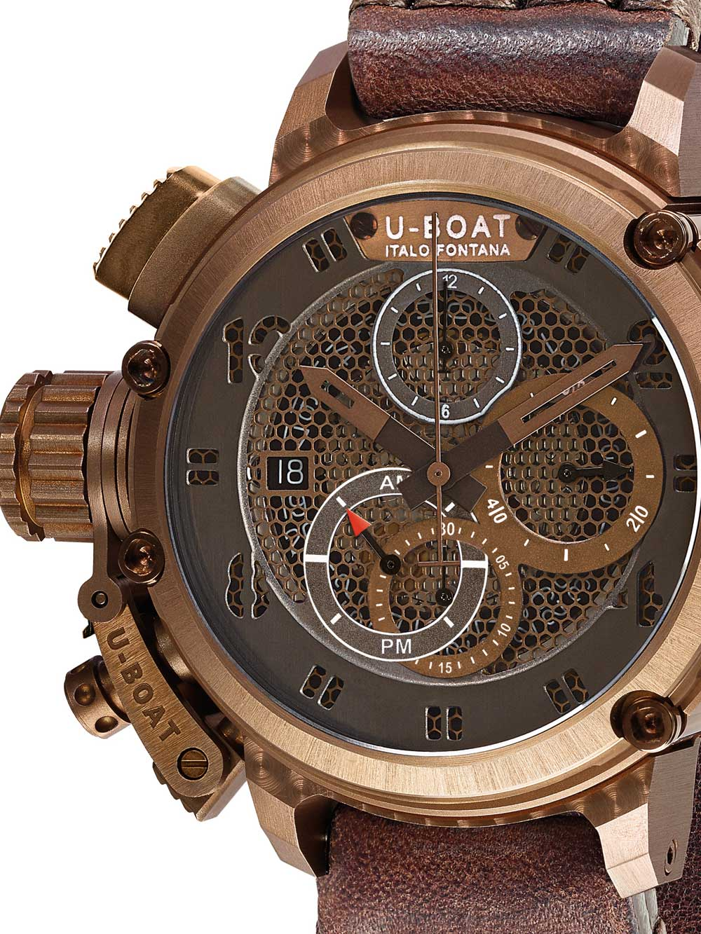 Image of U-Boat 8096 Chimera Bronze Autom. Chrono 46 mm