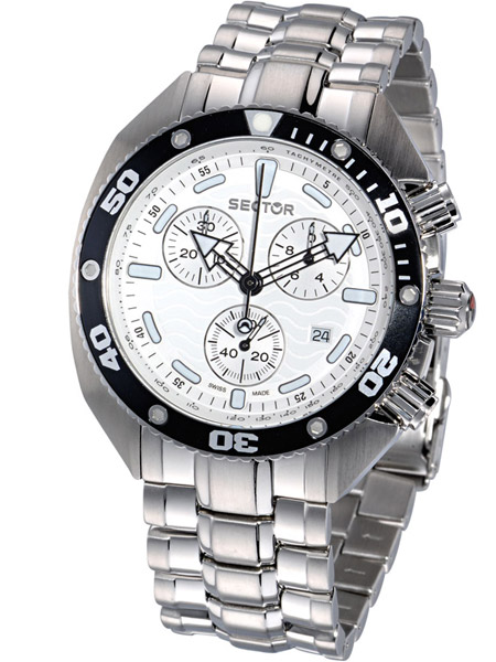 Sector Herrenuhr OCEAN MASTER R3253966115 Chronograph SWISS MADE