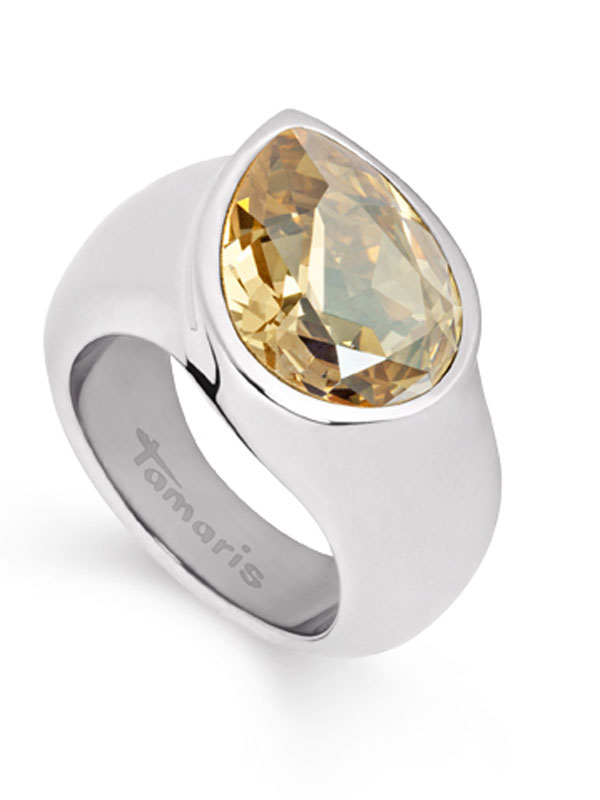 Image of Tamaris Amy Ring A00210075 Gr. 56 Tropfen Stahl Golden Shadow