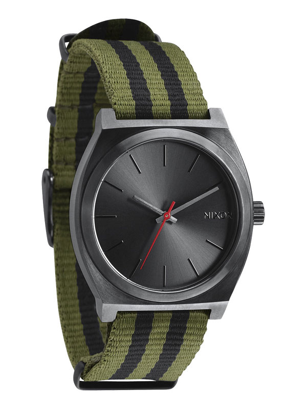 NIXON Time Teller A-045-1151 Surplus Black Nylon Unisexuhr