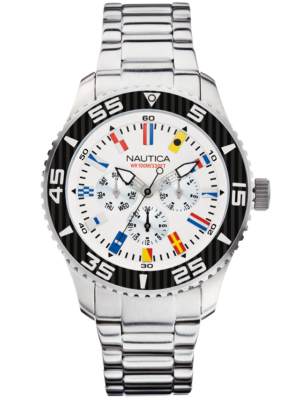 Image of NAUTICA NST 07 Flag A14630G Multifunktion 44 mm 10 ATM