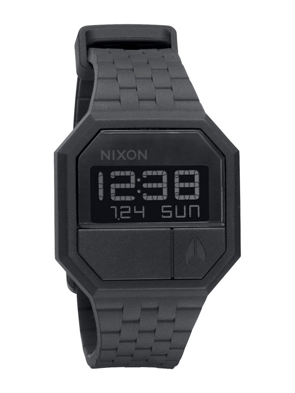 Nixon A-169-000 Rubber Re-Run Black Herrenuhr