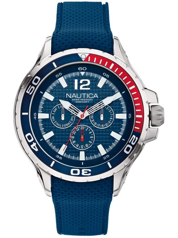 NAUTICA NST 02 48 mm A17613G 10 ATM Multifunktion