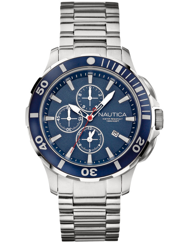 NAUTICA BFD 101 Dive Style A20508G Chrono 10 ATM 44 mm