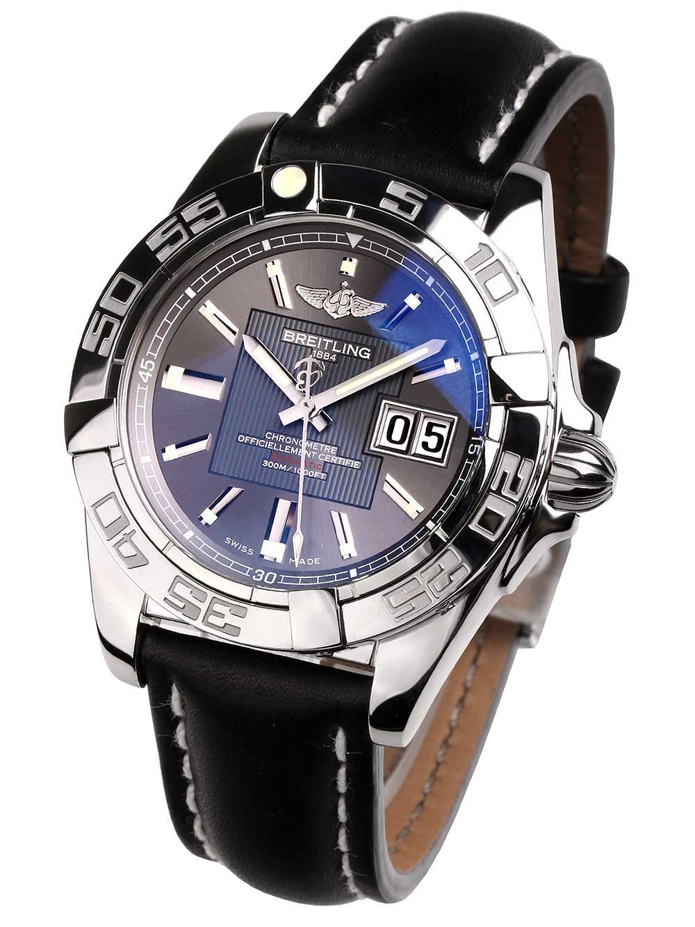 Image of Breitling A49350L2.F549.428X Galactic 41 Herren 41mm 30ATM