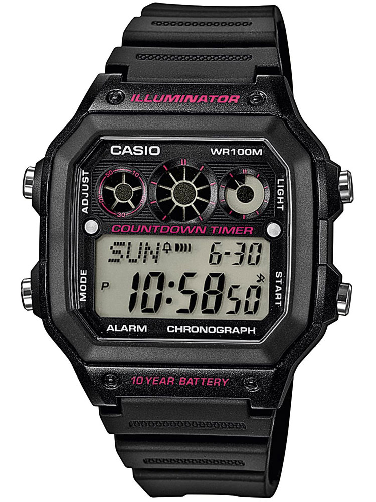 Casio AE-1300WH-1A2VEF Herren Collection Chronograph 10 ATM 42 mm