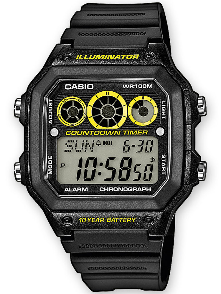 Casio AE-1300WH-1AVEF Herren Collection Chronograph 10 ATM 42 mm
