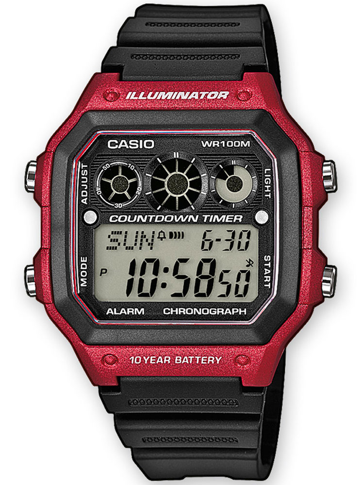 Casio AE-1300WH-4AVEF Herren Collection Chronograph 10 ATM 42 mm