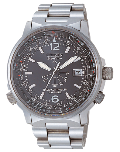Citizen AS2031-57E Eco-Drive Promaster Sky Funkuhr Titanium