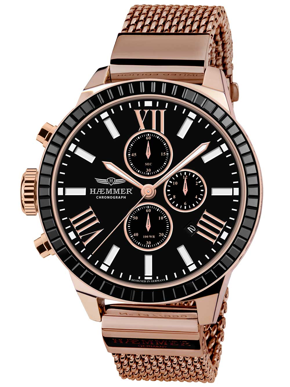 Image of Haemmer BD-04-M Mila Dark Secret Chronograph Unisex 45mm 10ATM
