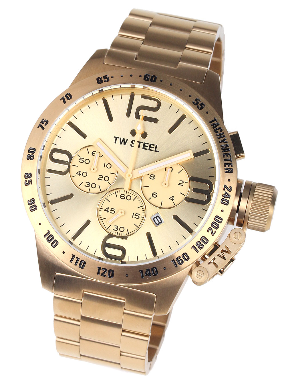 Image of TW-Steel CB104 Canteen Bracelet Chronograph 50mm 10ATM