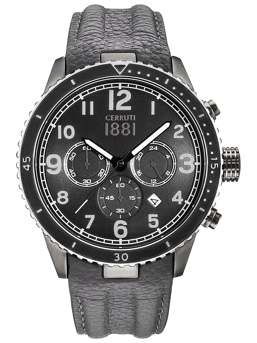 Image of Cerruti CRA104SUB02GY Volterra Chronograph 46mm 5ATM