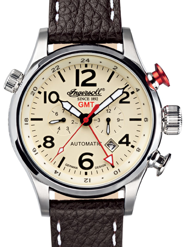 Image of Ingersoll IN3218CR Herrenuhr GMT Automatik
