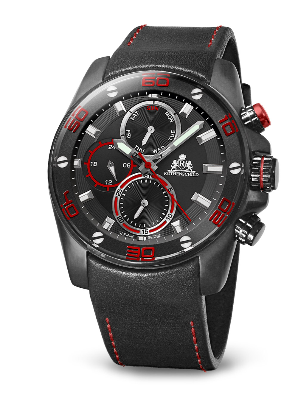 Image of Rothenschild Abyss RS-1405-IB-BKRD red black 46 mm 100M