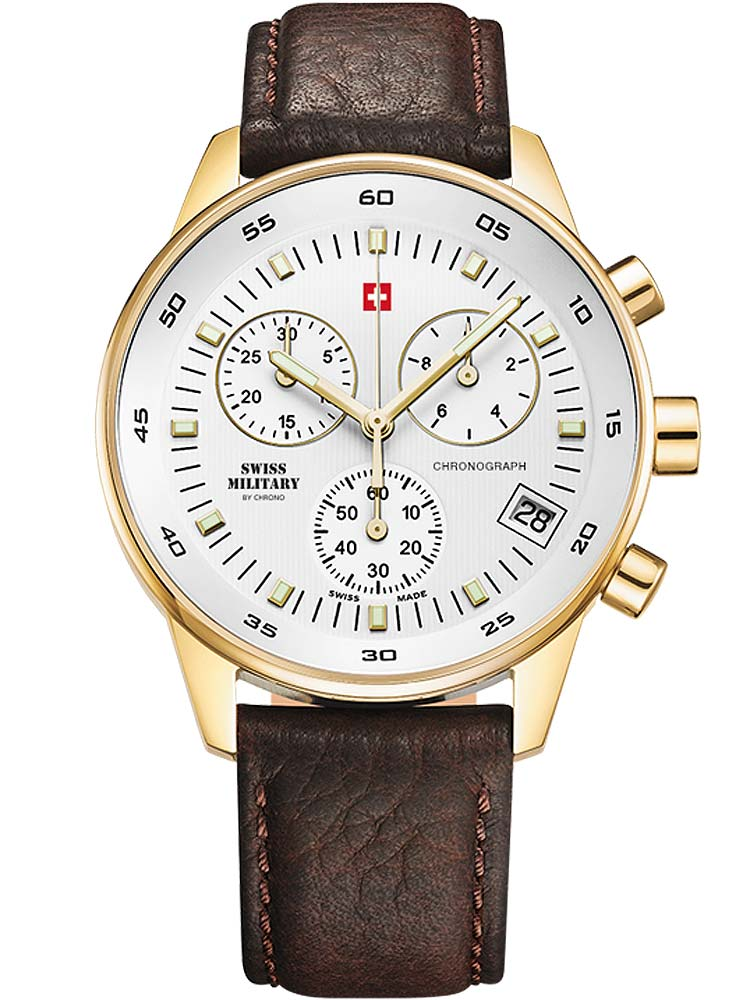 Image of Swiss Military SM30052.05 Chronograph gold 40mm 5ATM