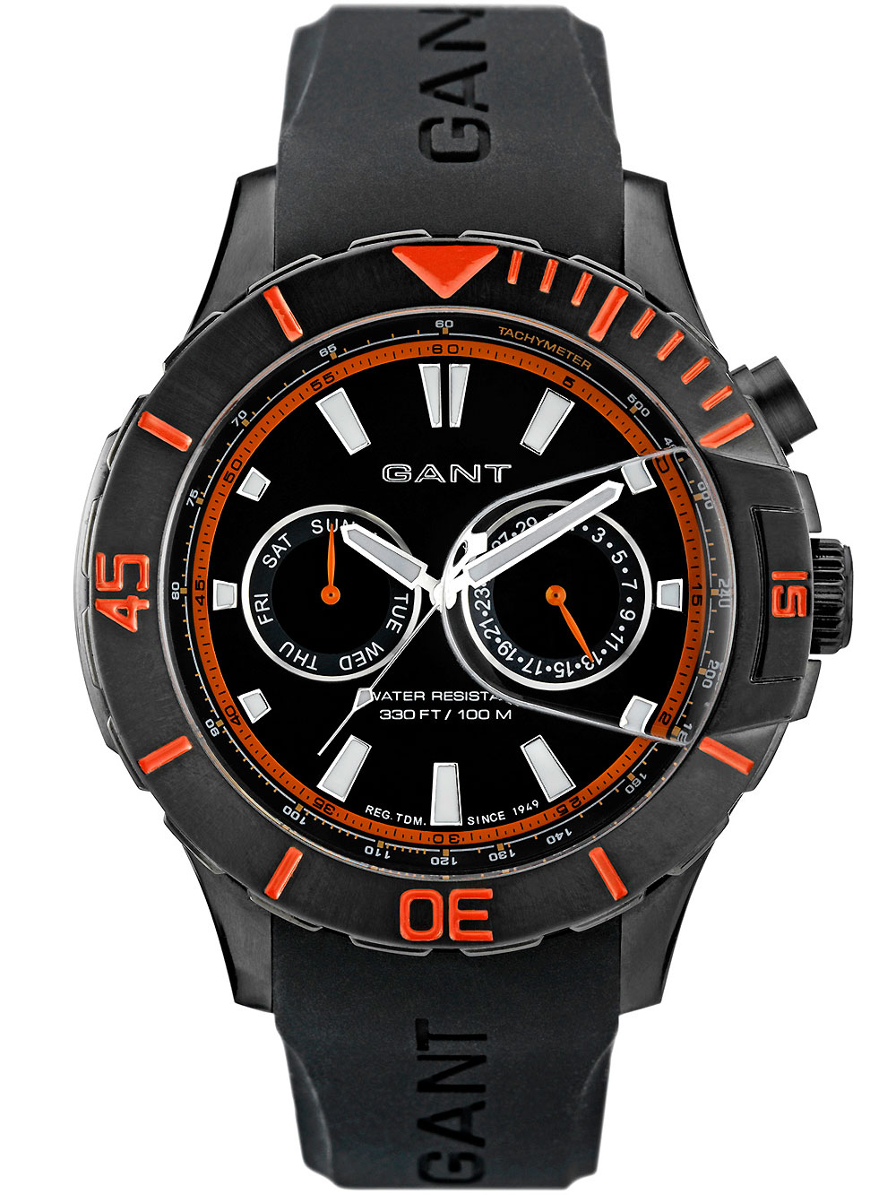 Image of Gant Boston W70624 schwarz orange Herren 46 mm 10 ATM