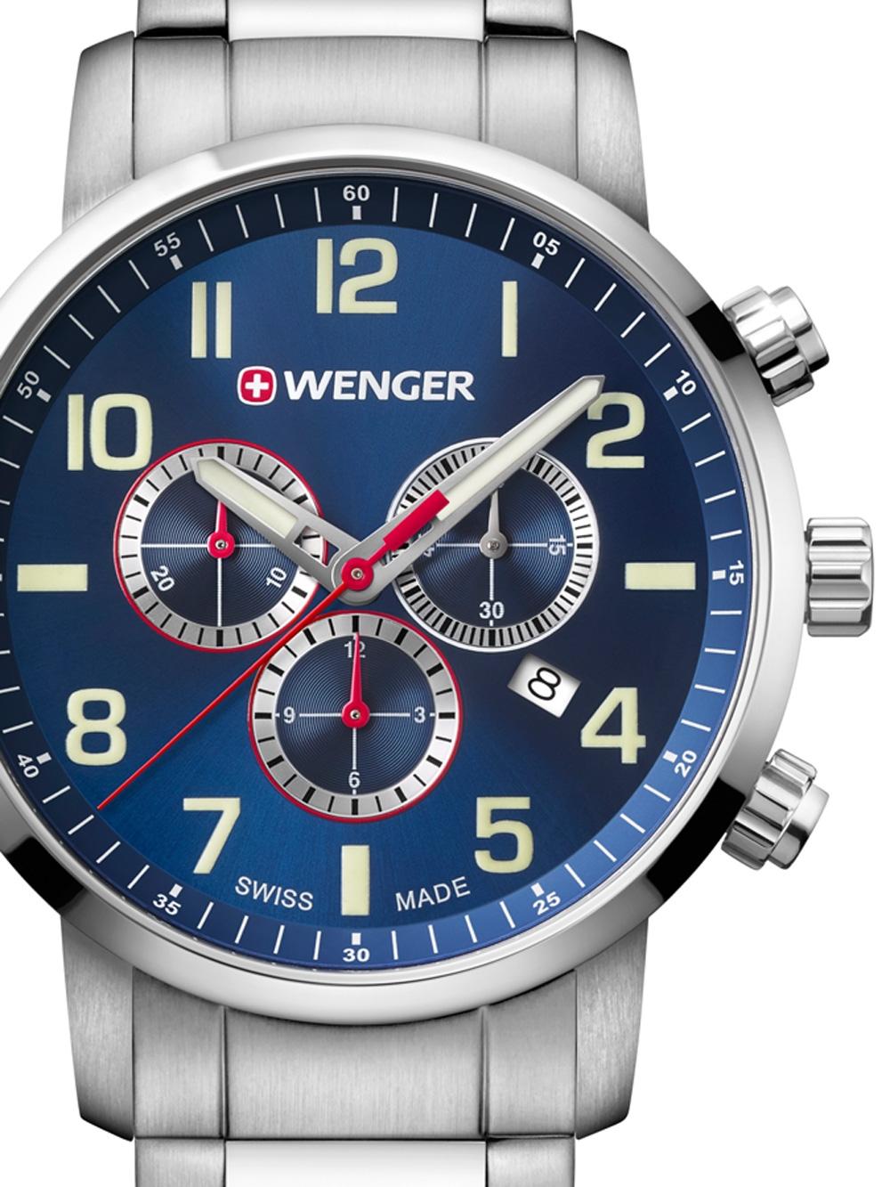 Wenger 01.1543.101 Attitude Chronograph 44mm 10ATM