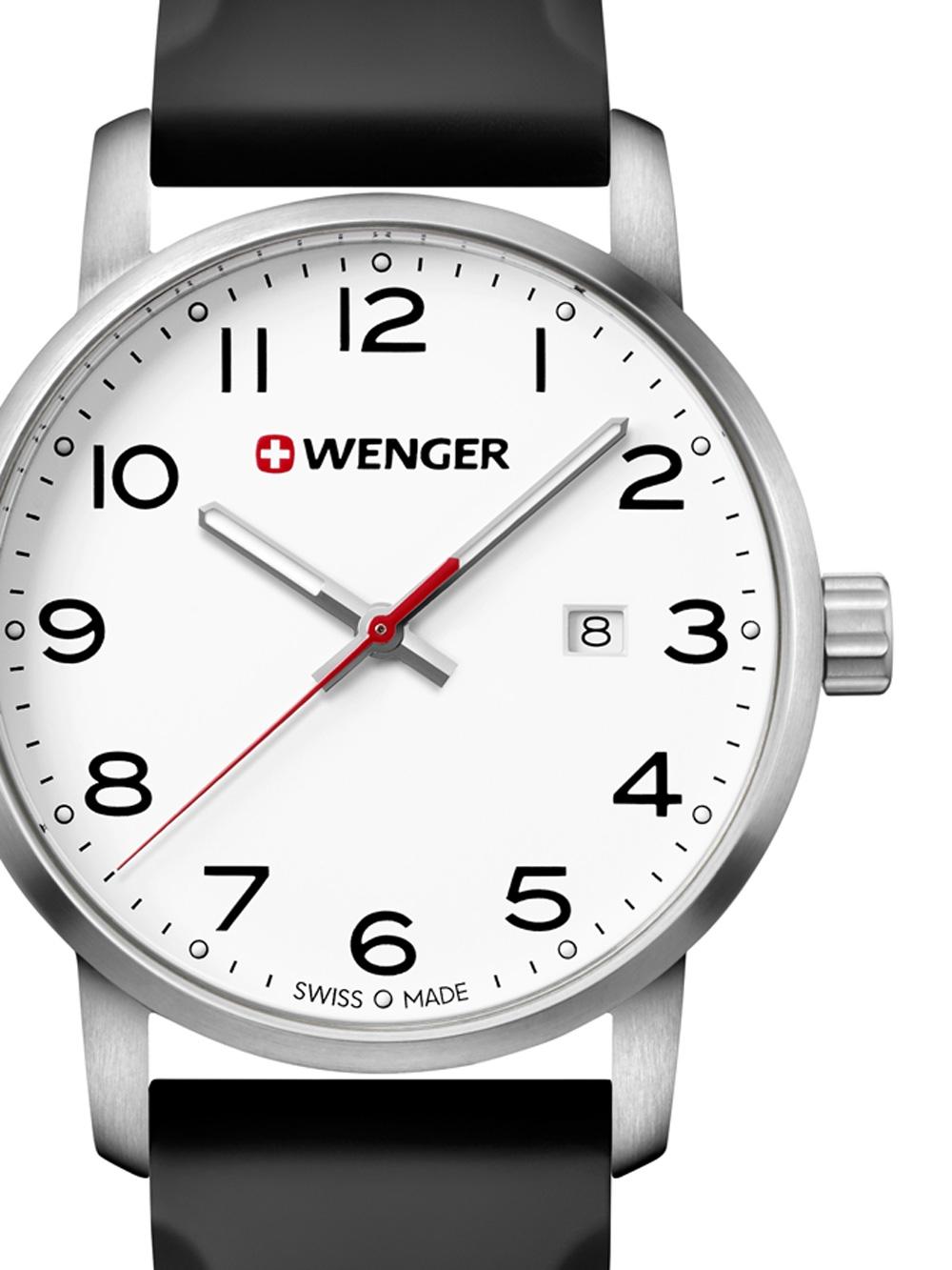Wenger 01.1641.103 Avenue Herren 42mm 10ATM