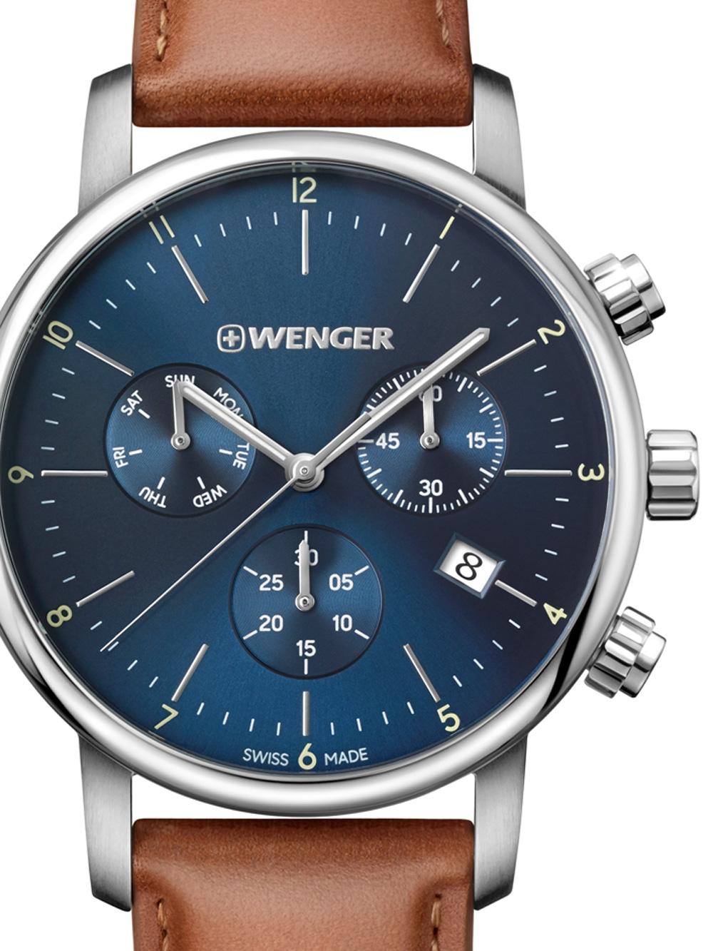 Wenger 01.1743.104 Urban Classic Chronograph 44mm 10ATM