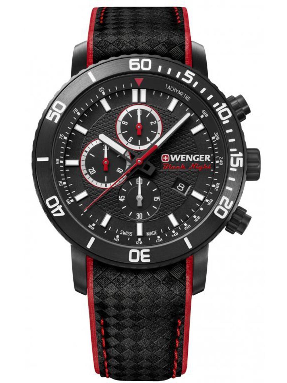 Wenger 01.1843.109 Roadster Black Night Chronograph 45mm 10ATM