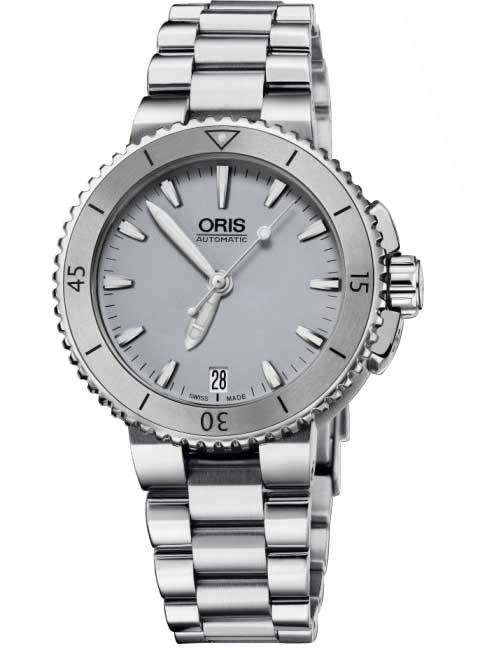 Uhren - Oris 0173376524143 0781801P Aquis Damen 36mm 30ATM  - Onlineshop Timeshop24
