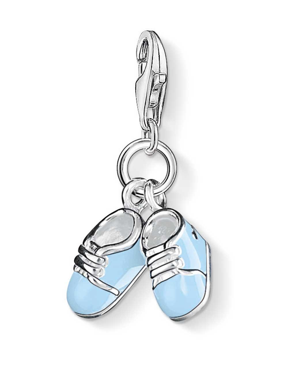 Thomas Sabo 0822-007-1 Charm Anhänger Blaue Babyschuhe