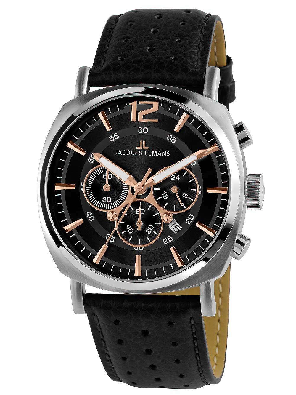 1-1645J Lugano Chronograph Herren 46mm 10ATM