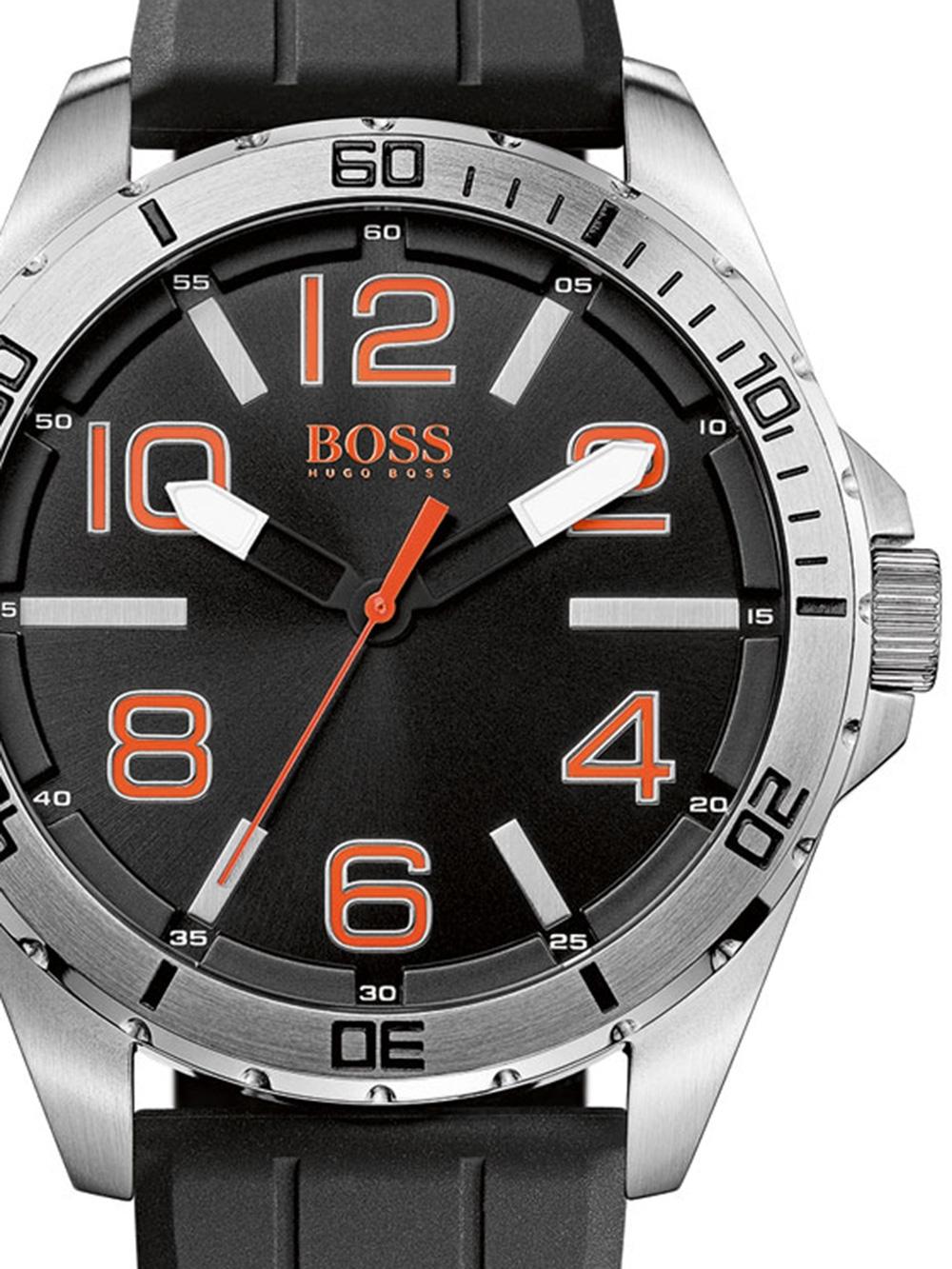 BOSS ORANGE 1512943 Herren schwarz silber orange 48 mm