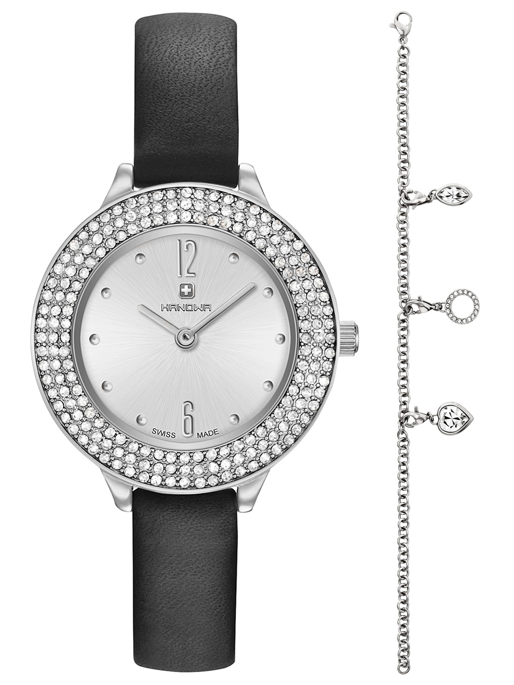 Uhren - Hanowa 16 8008.04.001SET Alessia Set mit Armkettchen Damen 30mm 3ATM  - Onlineshop Timeshop24