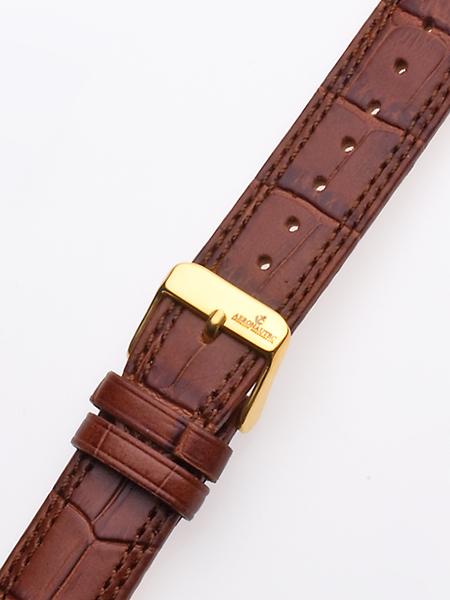 Uhrenarmband 20 x 185 mm braun goldene Schliesse Preisvergleich
