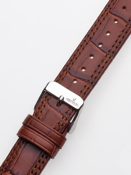 Uhrenarmband 20 x 185 mm braun silberne Schliesse Preisvergleich