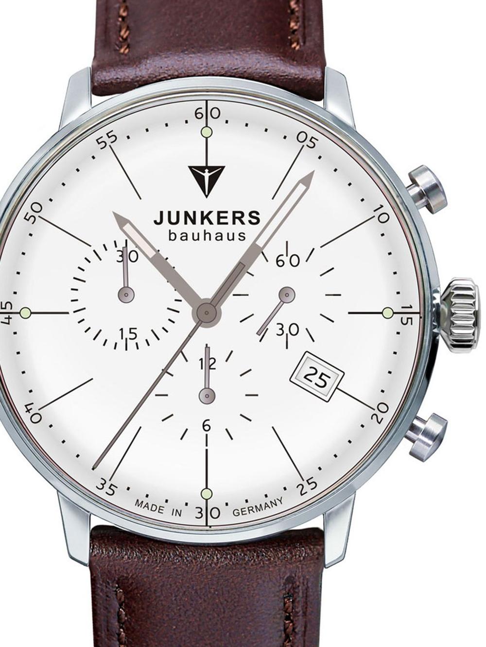 Junkers Bauhaus Chrono 6088 5 Herrenuhr 40 mm