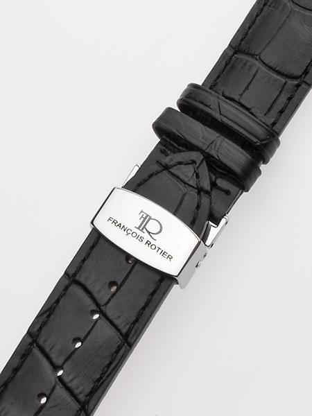 Exklusives Lederband 24 x 190 mm schwarz silberne Faltschliesse Preisvergleich
