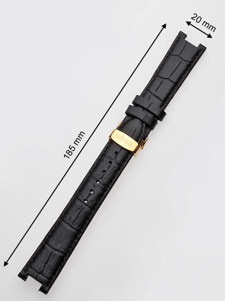Juwelis Ersatzband JW-0601 20 x 185 mm schwarz goldene Faltschliesse Preisvergleich