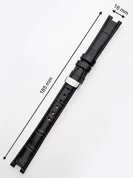 Juwelis Ersatzband JW-0602 16 x 185 mm schwarz silberne Faltschliesse Preisvergleich