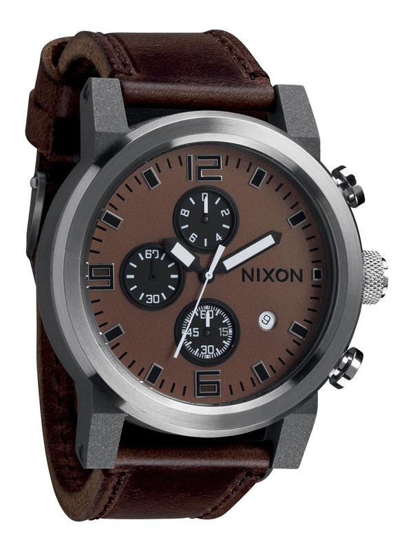 NIXON Ride A315 562 Brown Black Herrenuhr Chronograph
