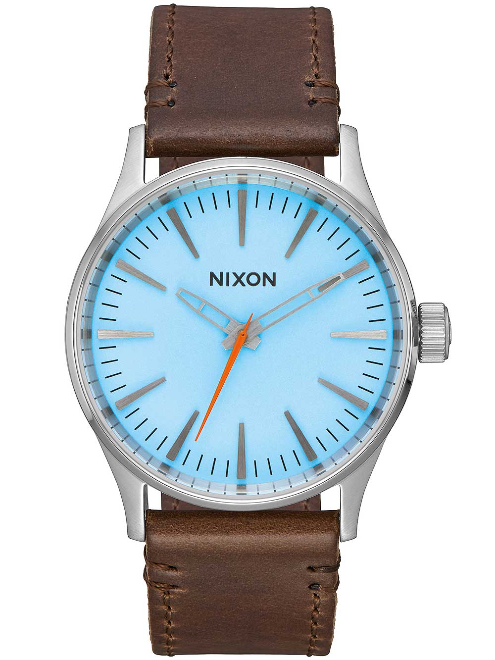 A377-2547 Sentry Leather 38mm Sky Blue Taupe 10ATM