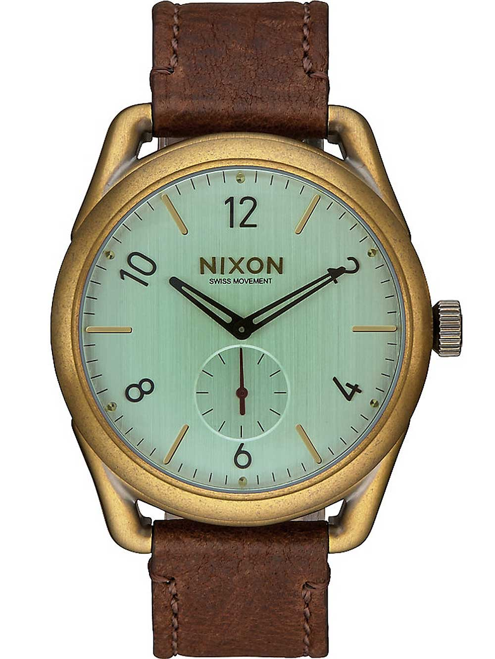 A459-2223 C39 Leather Brass Green 39mm 10ATM