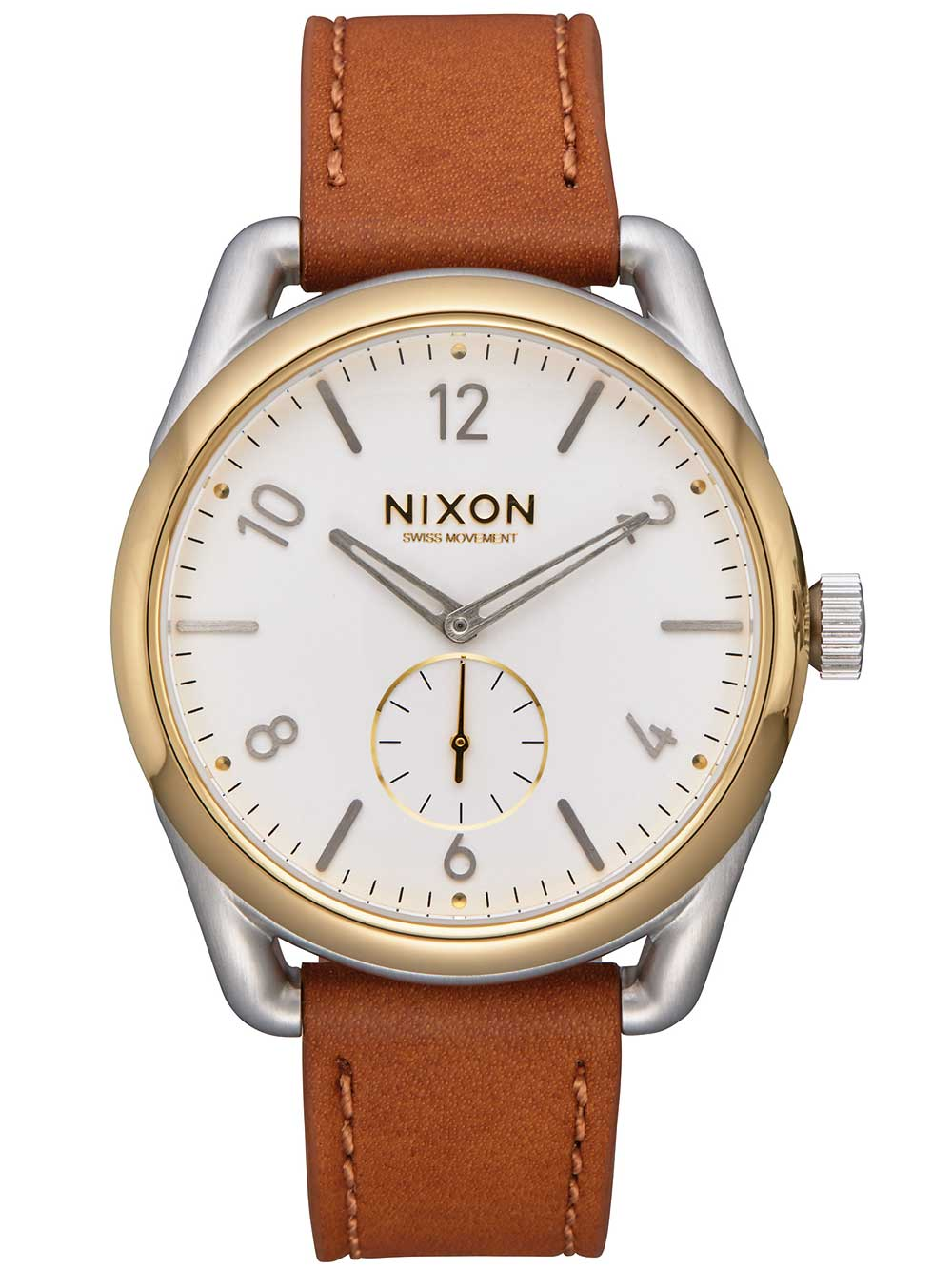 Nixon A459-2548 C39 Leather Herren 39mm 10ATM