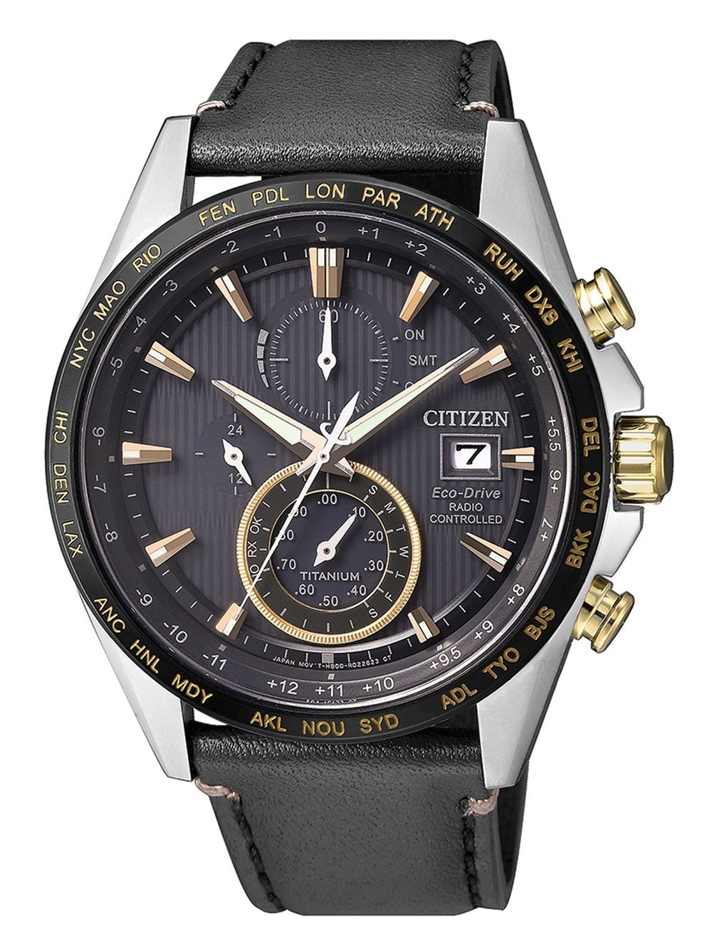 Citizen AT8158-14H Eco Drive Funkuhr Chronograph 42mm 10ATM