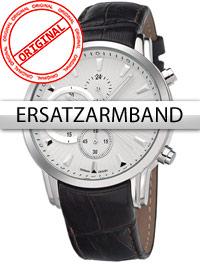 Bossart Ersatzband Leder BW-1104 braun silberne Schliesse