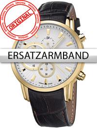 Bossart Ersatzband Leder BW-1104 braun goldene Schliesse