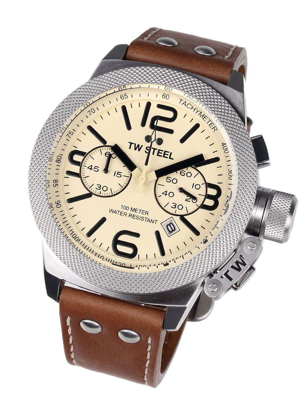 CS14 Canteen Leather Chronograph 50mm 10ATM