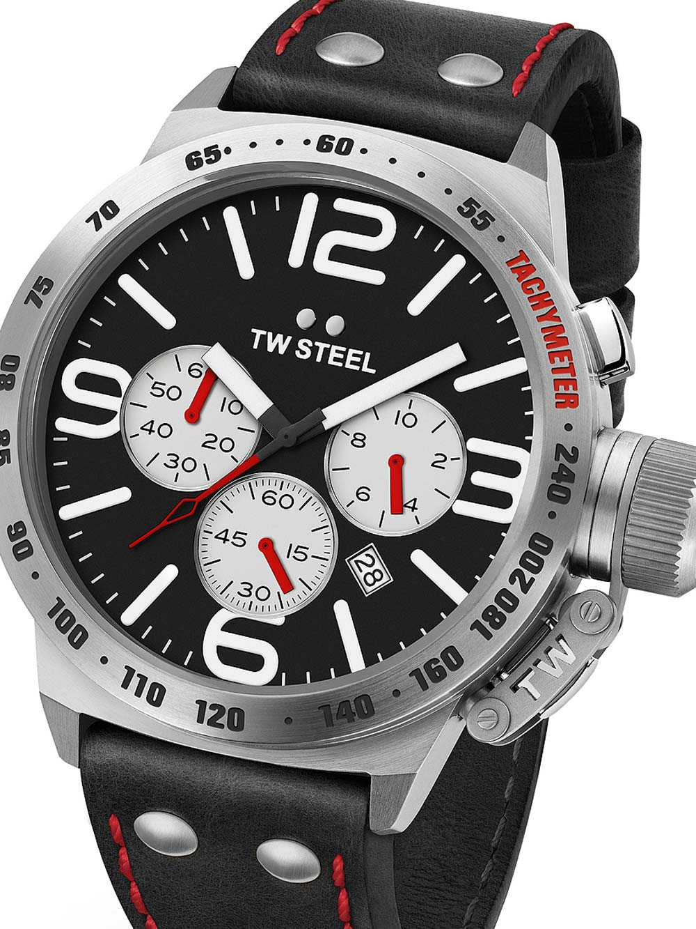 TW-Steel CS7 Canteen Leather Chronograph 45mm 10ATM
